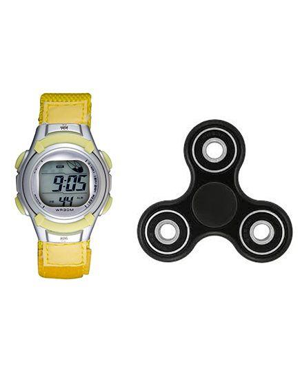 Fantasy World Watch & Spinner Combo - Yellow
