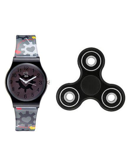 Fantasy World Watch & Spinner Combo - Black