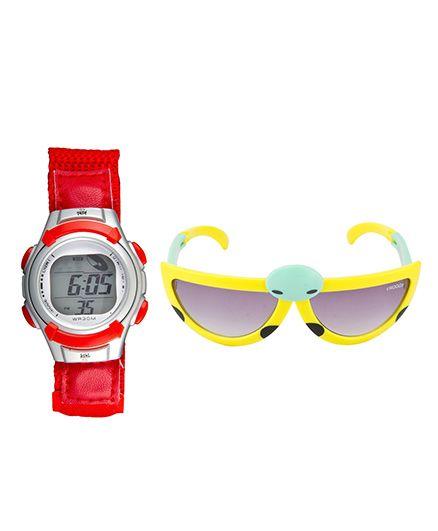 Fantasy World Watch & Sunglasses Combo - Red & Yellow
