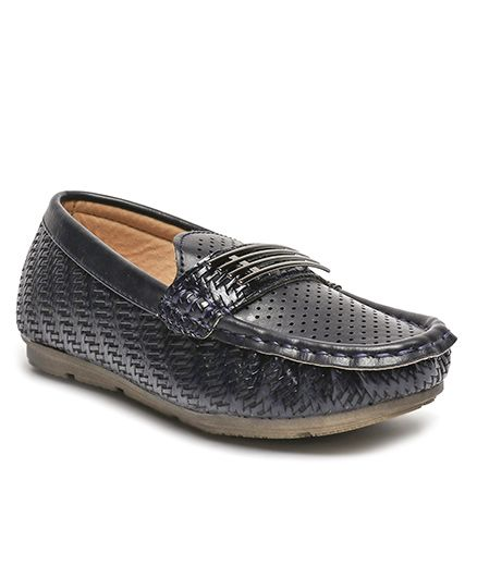 Cute Walk by Babyhug Party Wear Slip On Loafer Shoes - Navy