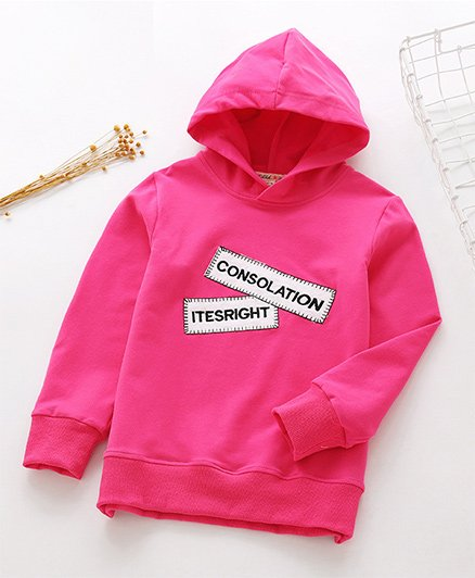 Pre Order - Awabox Patch Style Hoodie - Rose