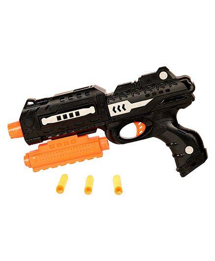 Toyshine Gun With Jelly Shots And Soft Foam Bullets - Black Orange