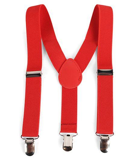 Babyhug Y Shape Suspenders - Red