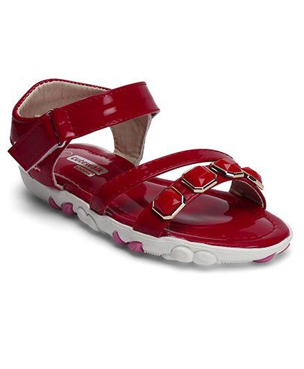 Cute Walk by Babyhug Designer Sandal - Red