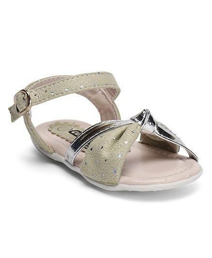 Cute Walk by Babyhug Dual Shade Sandal - Beige & Silver
