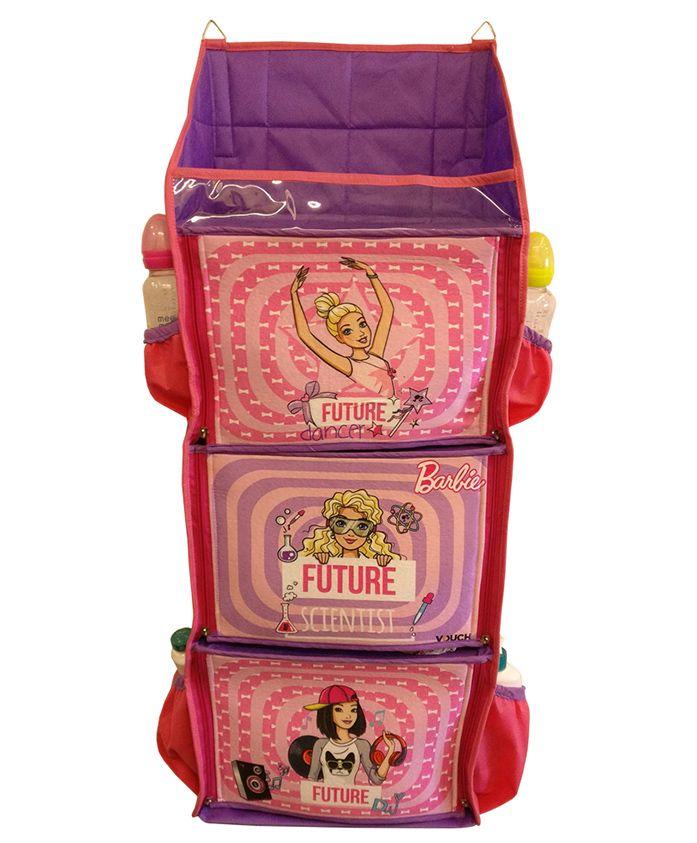 Barbie 3 Shelf Foldable Hanging Rack - Pink & Purple