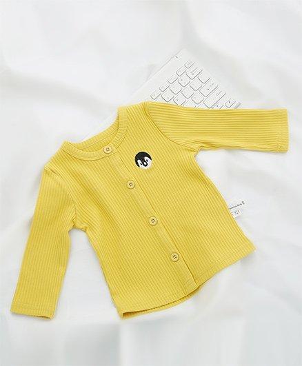 Pre Order - Awabox Penguin Design Front Open Sweater - Yellow