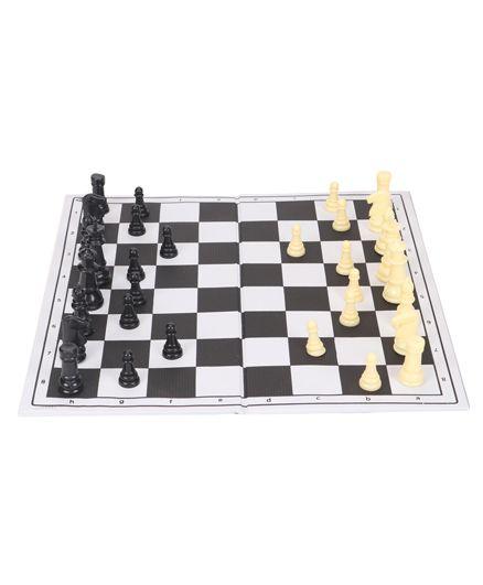 Veer Tournament Chess Set - Black White