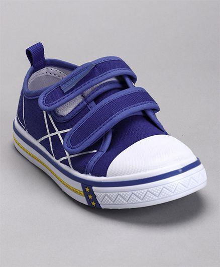 Cute Walk by Babyhug Canvas Shoes - Royal Blue White