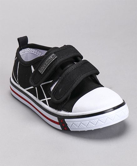 Cute Walk by Babyhug Canvas Shoes - Black White