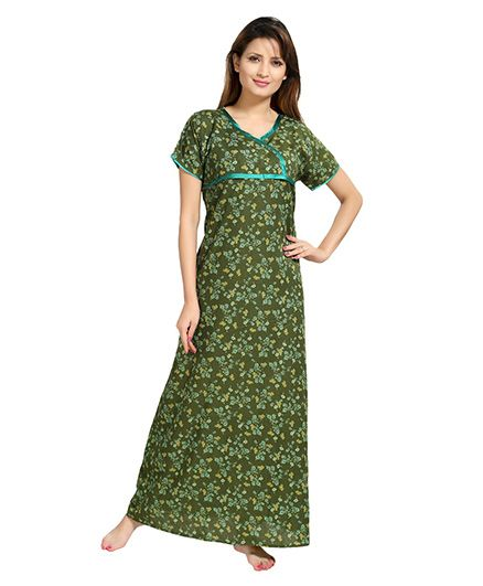 Eazy Womens Feeding Nighty - Green