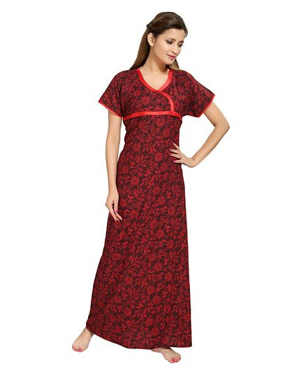 Eazy Womens Feeding Nighty - Red
