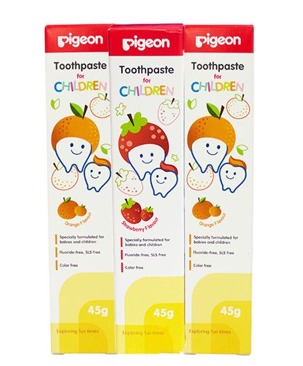 Pigeon Toothpaste For Children Pack of 3 - 45 grams Each