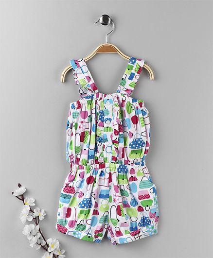 ToffyHouse Singlet Jumpsuit Bags Print - Multi Color