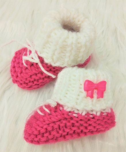 Magic Needles Sneakers Style Booties - Pink
