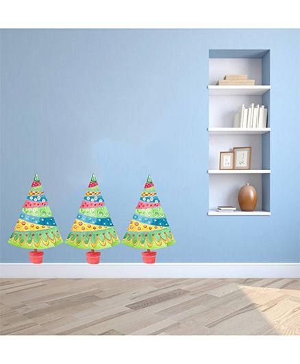 Orka Digital Printed Christmas Design Wall Sticker - Multi Colour