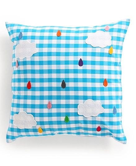 My Gift Booth Cushion Cover Clouds Patch - Blue