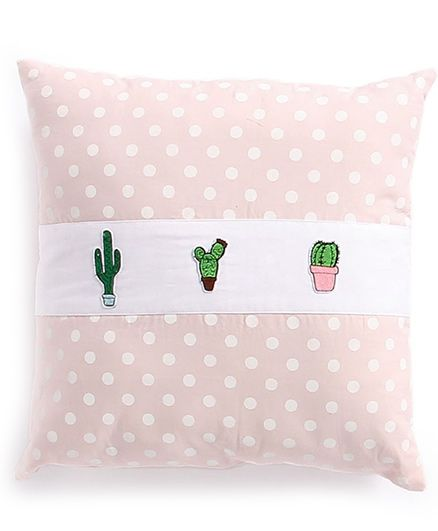My Gift Booth Cushion Cover Polka Dot Print - Peach