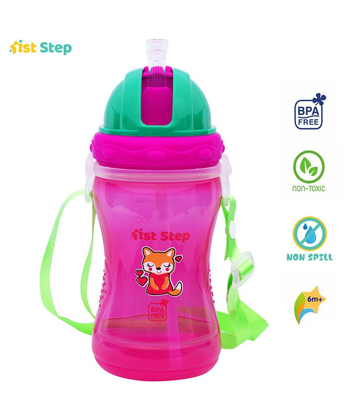 1st Step Spout Sipper Cup Fox Print - Pink