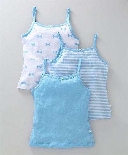 Babyoye Singlet Slips Pack of 3 - Sky Blue White