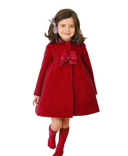 2 Footya Smart Overcoat - Red
