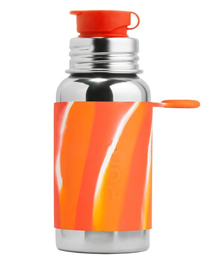 Pura Stainless Steel Sports Bottle With Screw Cap Orange - 550 ml
