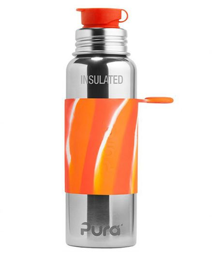 Pura Insulated Stainless Steel Sports Bottle Orange - 650 ml