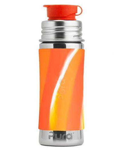 Pura Stainless Steel Sports Bottle Orange - 325 ml