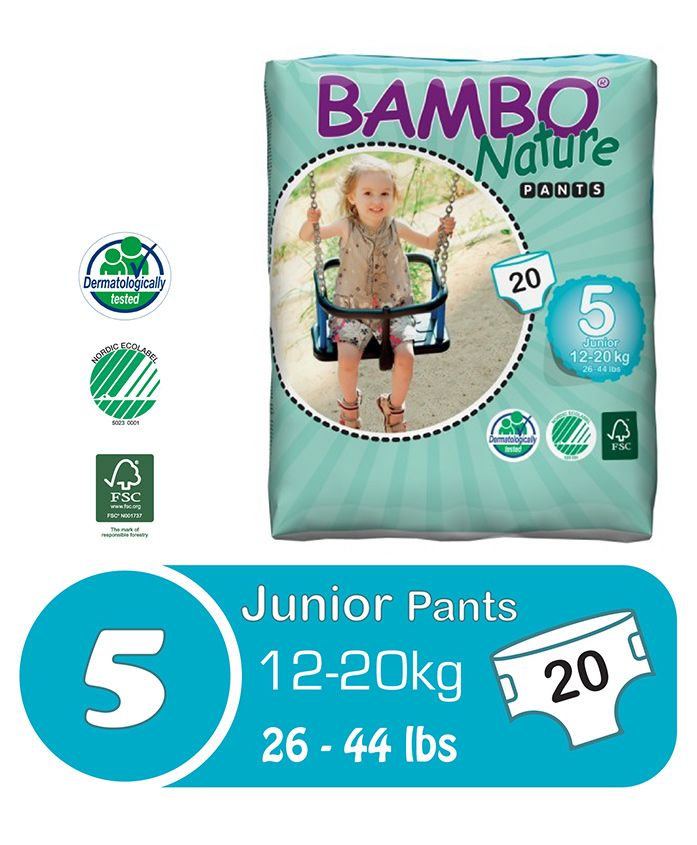 Bambo Nature Diaper Pants Junior - 20 Pieces