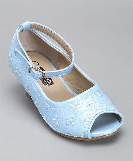 Cute Walk By Babyhug Thread Work Peep Toes - Light Blue