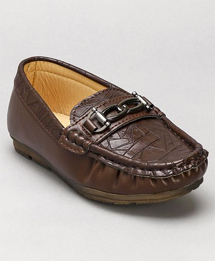 Cute Walk By Babyhug Loafers - Dark Brown