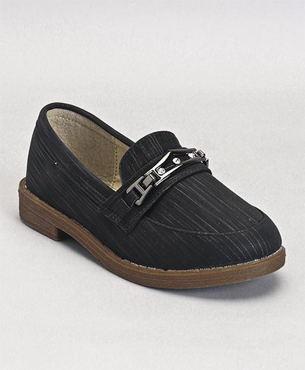 Cute Walk by Babyhug Loafers Stone Embellishment - Black