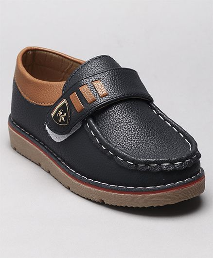 Cute Walk by Babyhug Loafers - Dark Navy Blue