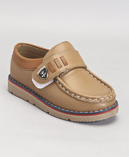 Cute Walk by Babyhug Loafers - Light Brown