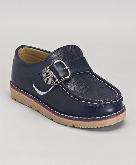Cute Walk by Babyhug Loafers Buckle Design - Navy Blue