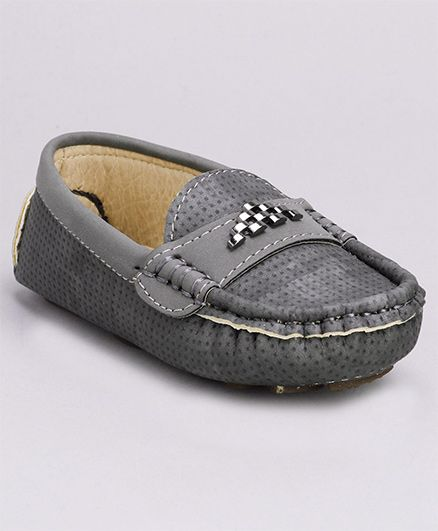 Cute Walk by Babyhug Slip-on Style Loafers - Grey