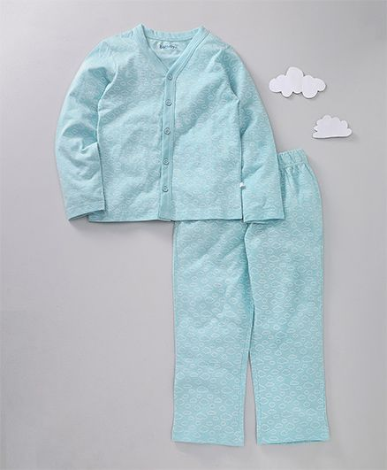 af6e32c31a 64%off Babyoye Full SLeeves Night Suit Allover Cloud Print - Light Blue
