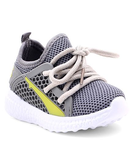 Cute Walk by Babyhug Lace Up Sports Shoes - Grey