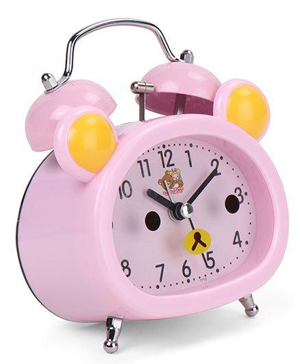 Dual Bell Alarm Clock - Pink