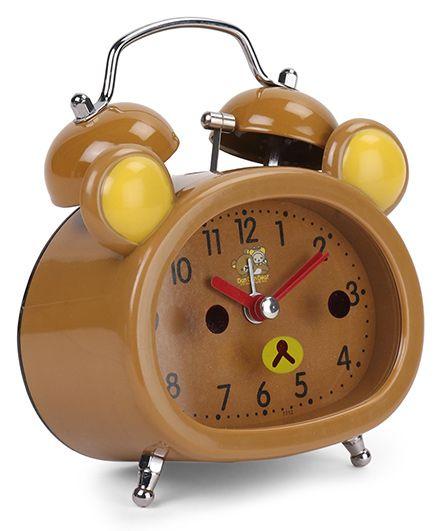 Dual Bell Alarm Clock - Light Brown