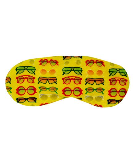 The Crazy My Eye Mask Sunglasses Print - Yellow