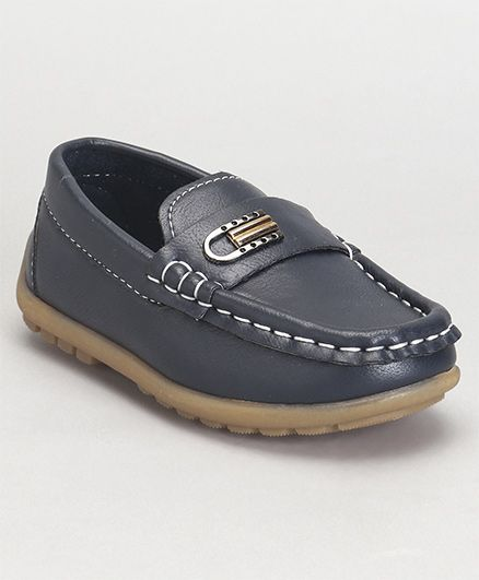 Cute Walk by Babyhug Loafer Shoes - Navy Blue