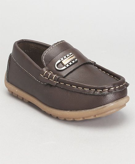 Cute Walk by Babyhug Loafer Shoes - Brown