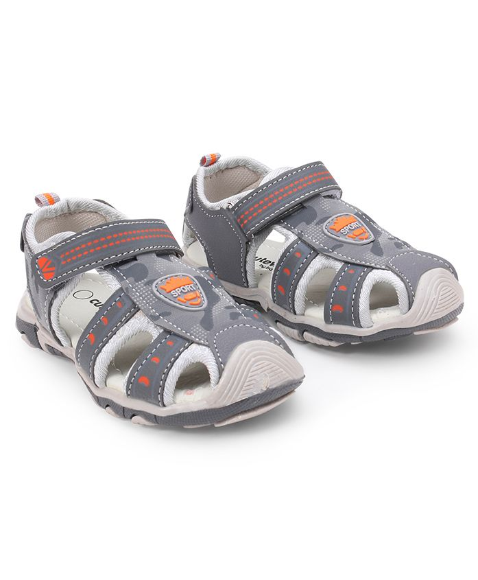 Cute Walk by Babyhug Sandals With Velcro Closure - Grey