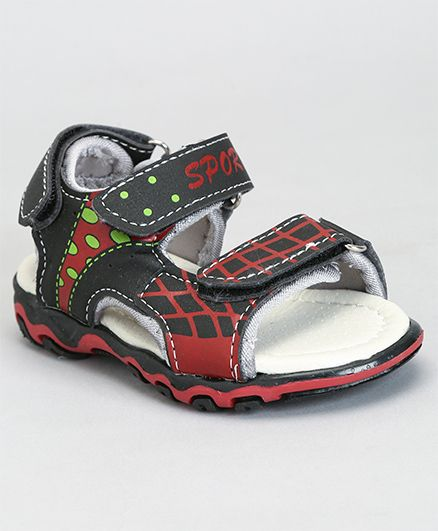 Cute Walk by Babyhug Sandals Sport Print - Black