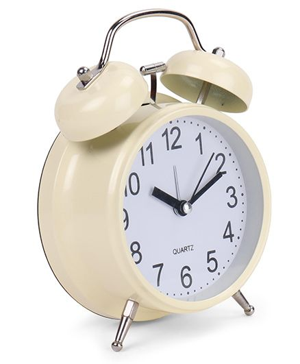 Round Shape Alarm Clock - Cream