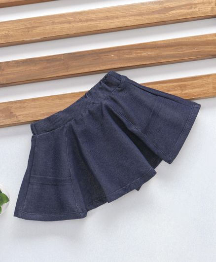 Fox Baby Pleated Skirt - Navy Blue