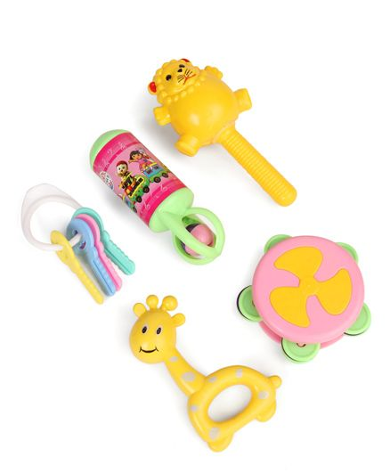 Ratnas Musical Rattle Toy Set Pack of 5 - Multi Colour