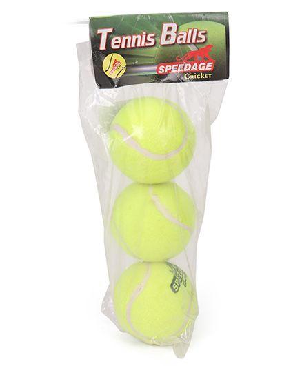 Speedage Tennis Ball Pack of 3 - Light Green