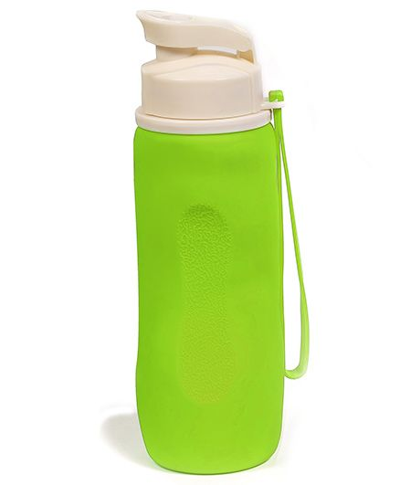 Baby Oodles Collapsible Silicon Sipper Water Bottles Green - 750 ml